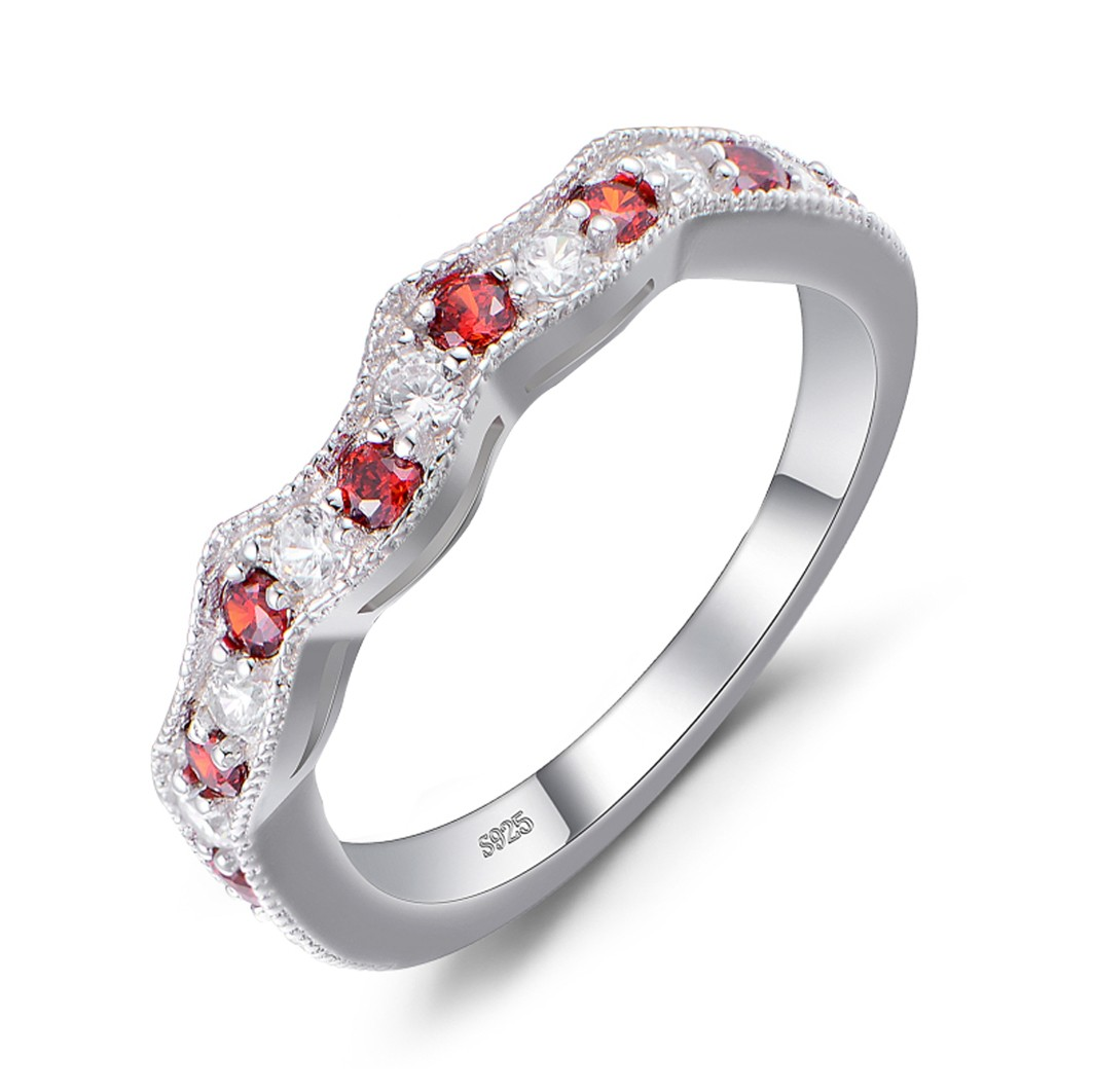 platinum anniversary ruby eternity band deco bands