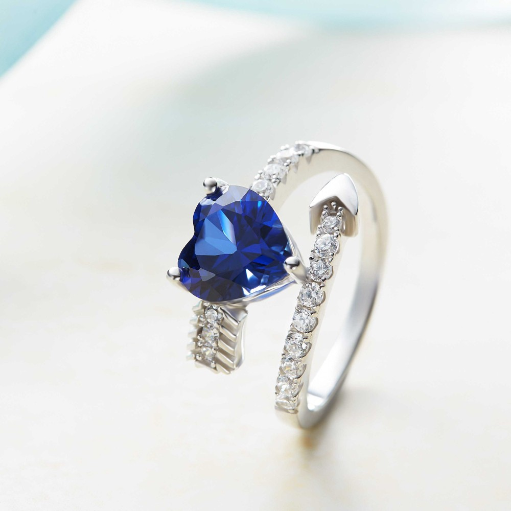 diamond cocktail ring aquamarine and womens white rings image sapphire gold dress avanti