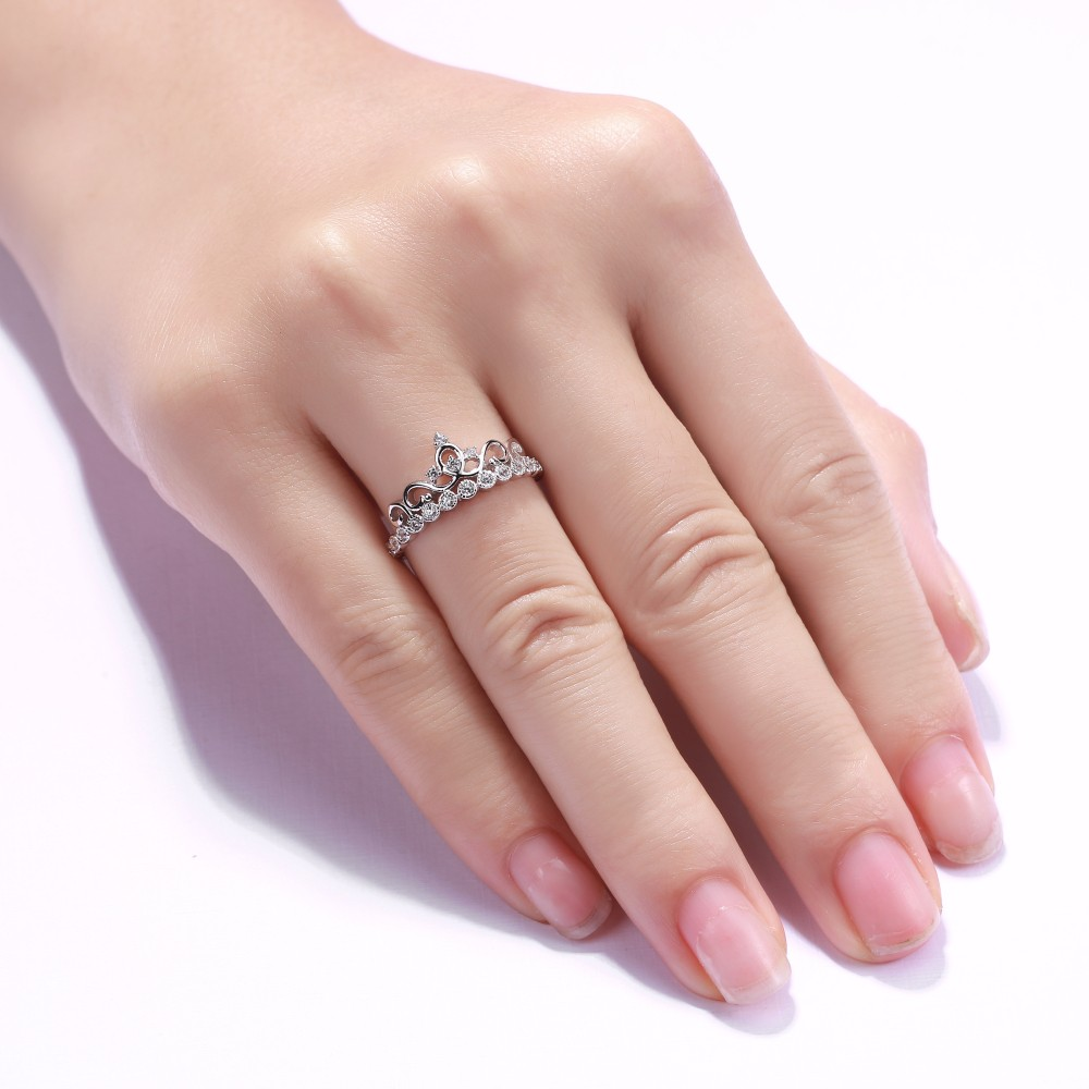 Round Cut Gemstone 925 Sterling Silver Promise Rings For Her ...