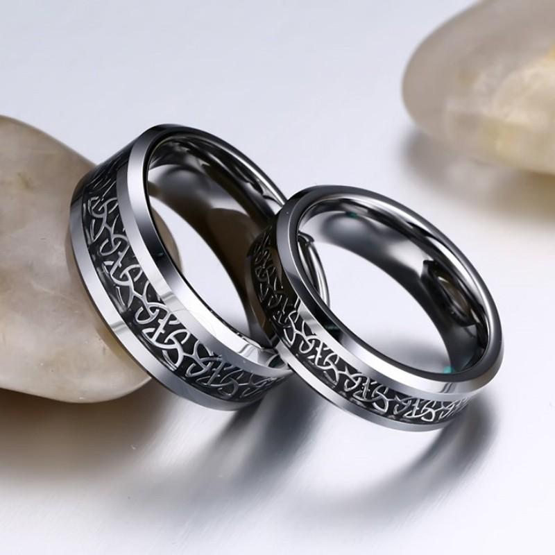 titanium steel silver black promise rings for couples. Black Bedroom Furniture Sets. Home Design Ideas