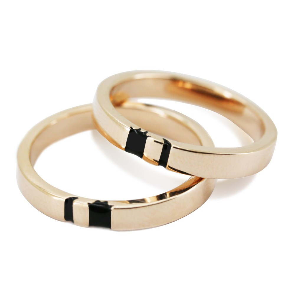 Sun and Moon Rose Gold 925 Sterling Silver Matching Couple Rings