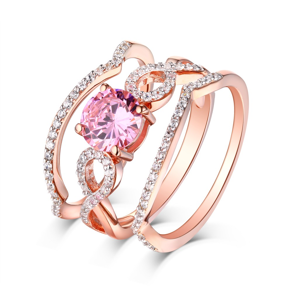 sumuduni ring ceylon rose peach gold sapphire in gems engagement simple pink rings