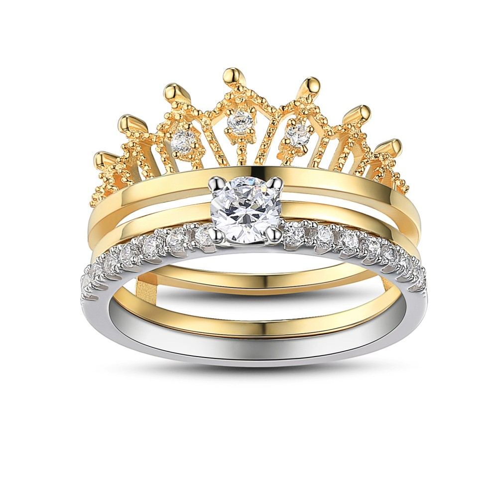wedding gold rings motif crown diamond ct ring tw white in clover studded four products leaf