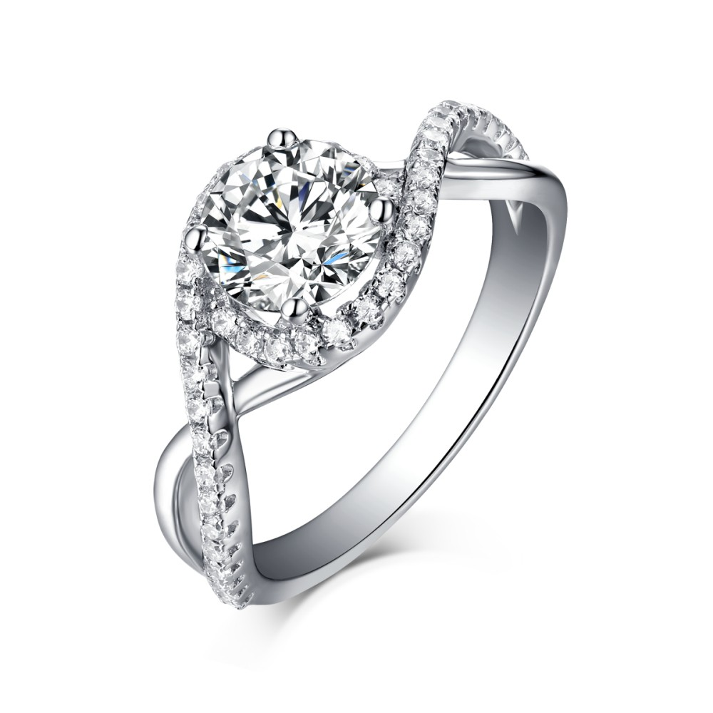 silver halo sterling cz products accent ring rings engagement crossover plated size stones