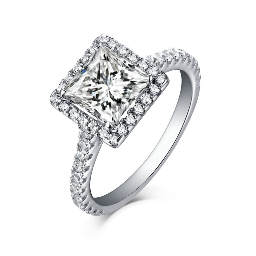 band cut set rings engagement ring all diamond i sizes cushion