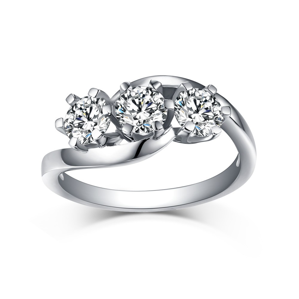trellis diamond engagement product ring two stone rings