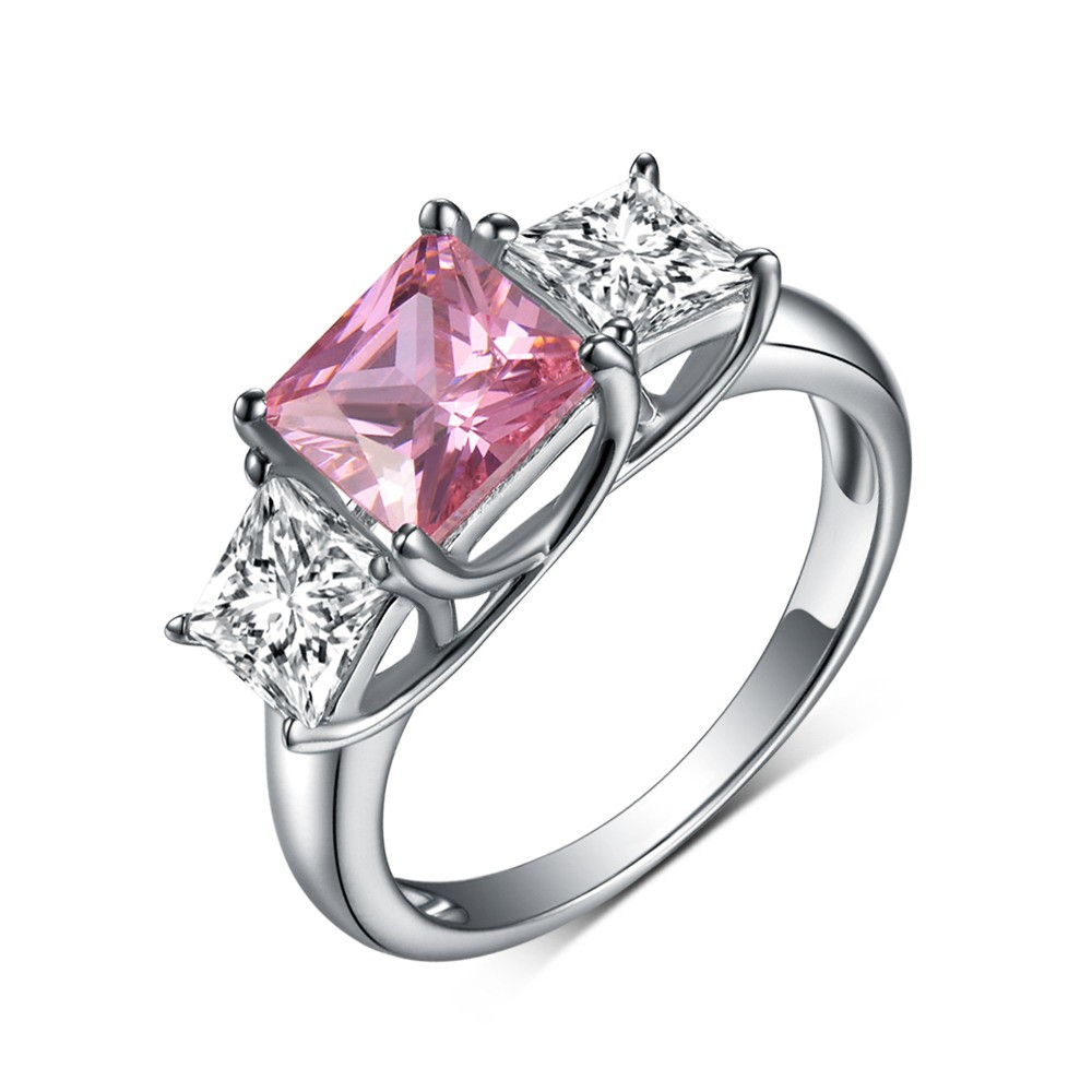 ring product pink jewelry free gold rings watches pear oval rose shipping overstock morganite today stone three and
