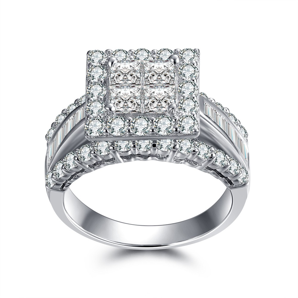 rings la products l engagement silver rose diamond ring amour white sterling product
