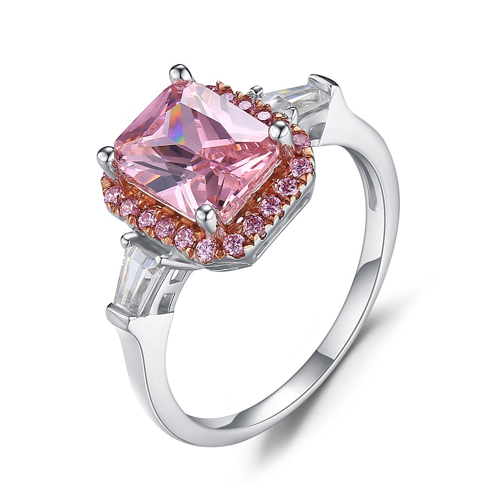 engagement by grades sapphire bezel trillion solitaire products nodeform ring pink