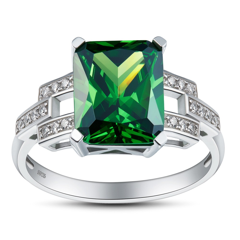 emerald cut product princess and channel ring set engagement diamond