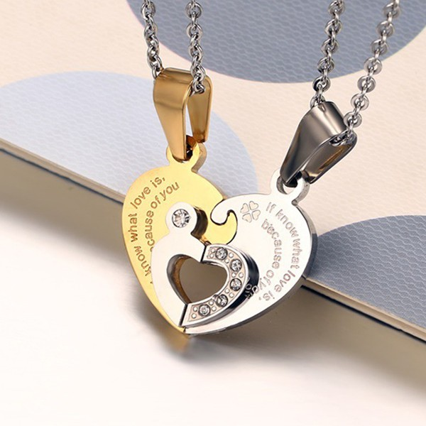 Heart Design Gold 925 Sterling Silver Necklace