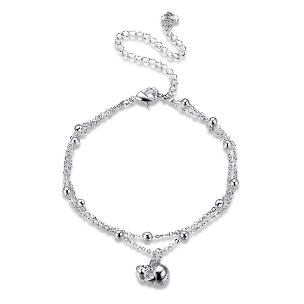 sterling heart cool hollow cheville anklet barefoot ankle out new flower chain item jewelry silver plum anklets design bead sandal bracelet