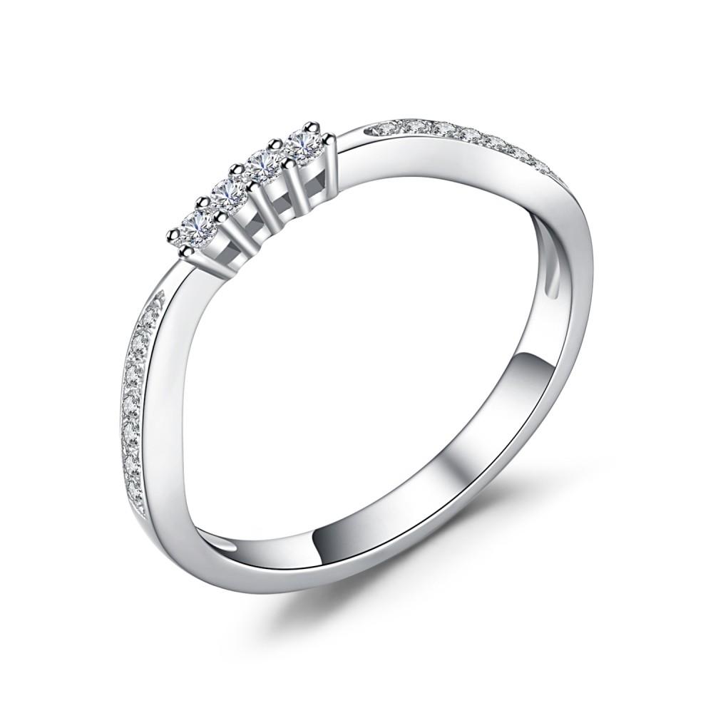 Round Cut Gemstone 925 Sterling Silver Women's Wedding Bands
