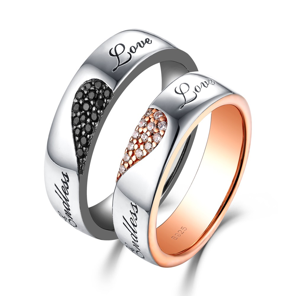 Women S Black Gold Wedding Rings