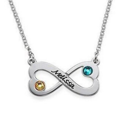 Infinity S925 Silver Personalized Engravable Necklace
