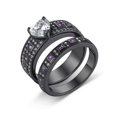 925 Sterling Silver Heart Cut White Sapphire Women's Ring