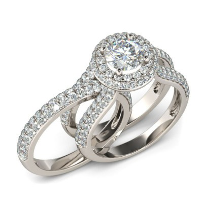 Fab Round Cut White Sapphire Sterling Silver Women's Engagement Ring