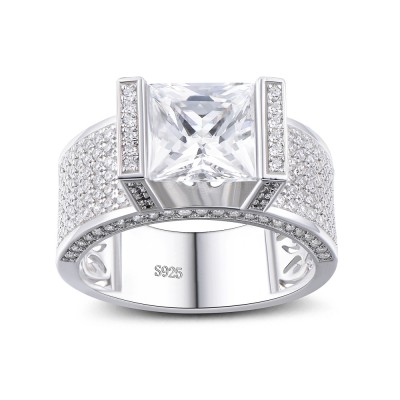 princess cut white sapphire 925 sterling silver engagement ring - Cheap Sterling Silver Wedding Rings