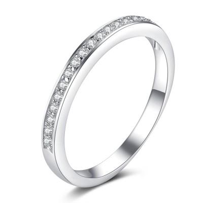 Round Cut Gemstone 925 Sterling Silver Birthstone Ring