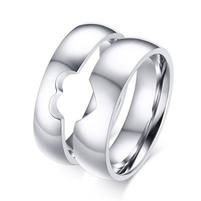 Special Design Titanium Steel Promise Ring for Couples