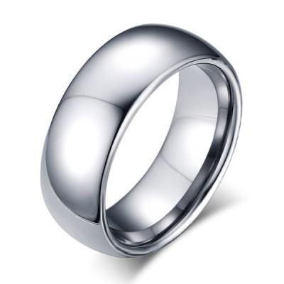 Tungsten Simple Silver Men's Ring
