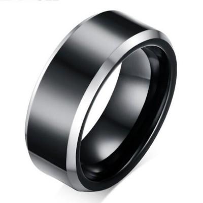 Tungsten Cool Black Men's Ring