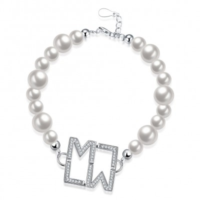 White Pearl Silver Pendant S925 Silver Bracelets