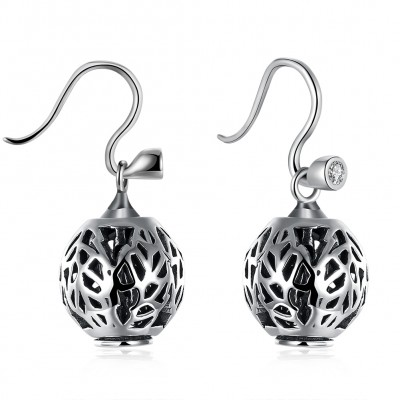 Art Deco Hollow Out S925 Silver Earrings