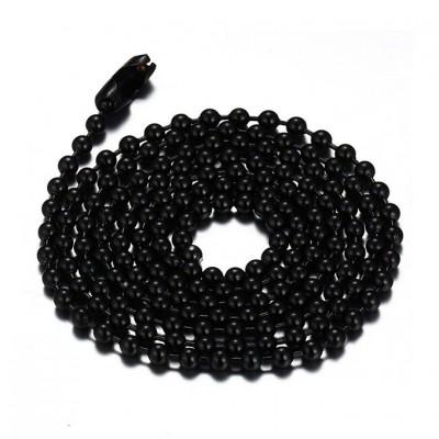 Black Titanium Steel 2.4mm Chains