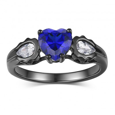 sapphire gold rings and ring diamond promise ladies