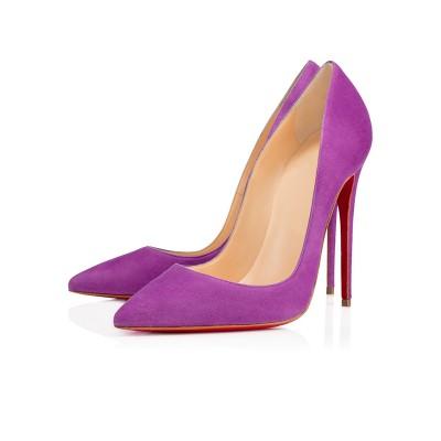 Women's Suede Closed Toe Stiletto Heel High Heels