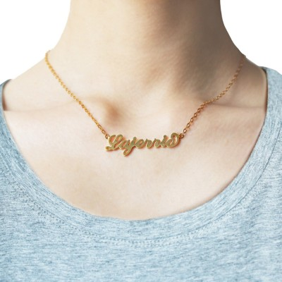 Gold S925 Silver Personalized Name Necklace