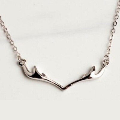Antler 925 Sterling Silver Unique Necklace