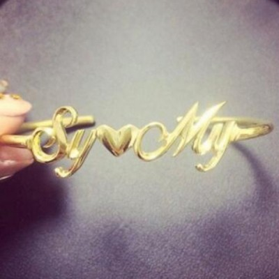 Gold S925 Silver Personalized Name Bangles