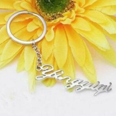 925 Sterling Silver Personalized Name Key Chains