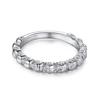 Attractive Sterling Silver Women's Skull Ring