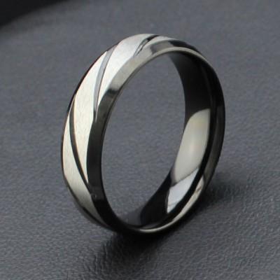 Cool Black Titanium Steel Men's Ring
