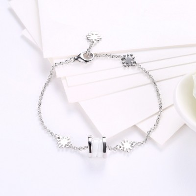 White Special Pendant S925 Silver Bracelets