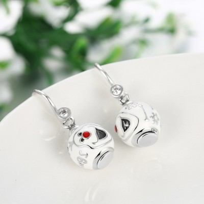 Snowman Lovely S925 Silver Earrings