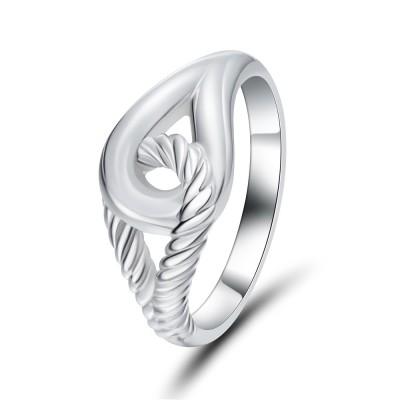Interlock 925 Sterling Silver Cocktail Ring