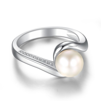 Sweet Pearl 925 Sterling Silver Birthstone Rings