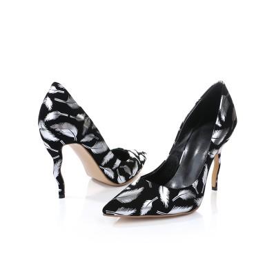 Women's Closed Toe PU Stiletto Heel With Animal Print High Heels