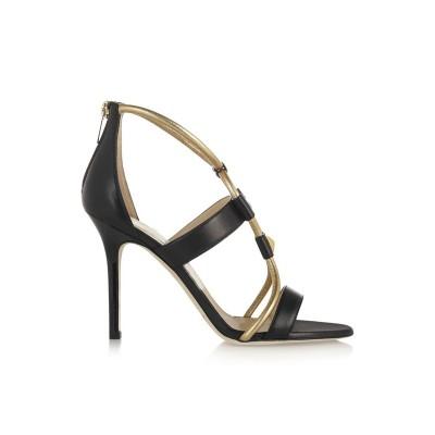 Women's Stiletto Heel Peep Toe Sheepskin Sandals Shoes