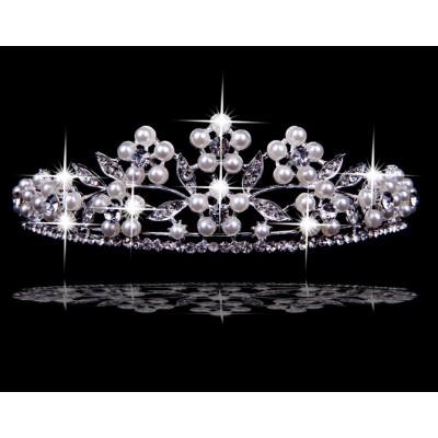 Very Stunning Czech Rhinestones Pearls Wedding Headpieces
